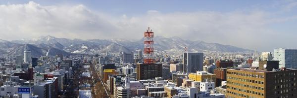 Panorama Aufnahme von Sapporo (Japan), dem Sitz von Image Navi