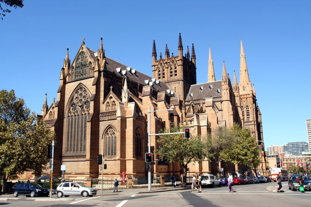 St. Mary's Cathedral, summer, Sydney, Australia