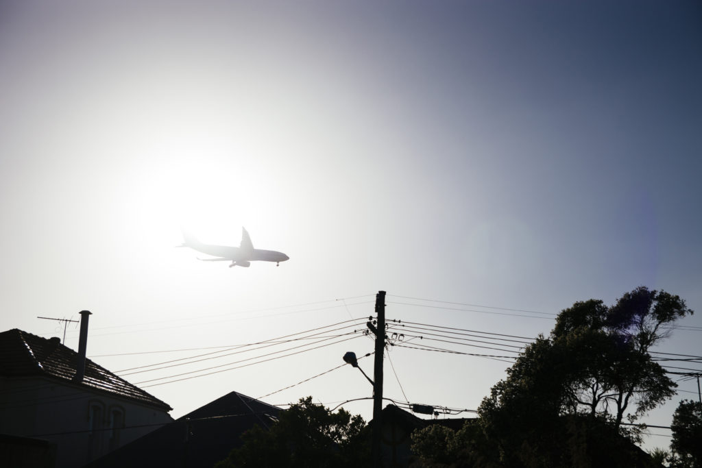 Sydney, approach, aeroplane, flare out, Australia