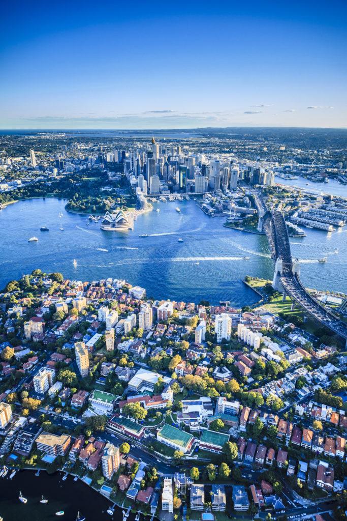 Sydney, arial view, skyline, Australia