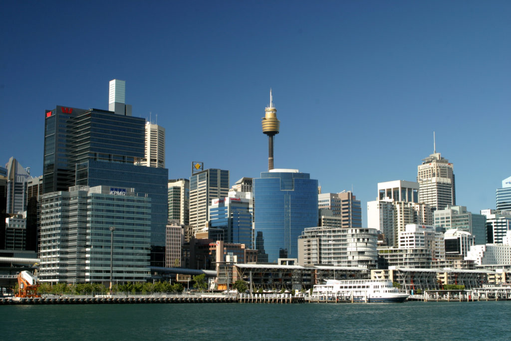 Darling Harbour, Sydney, Australia, skyline, crows nest, sea, harbour