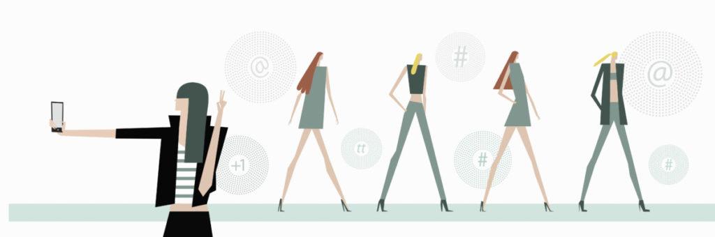 Illustration, smartphone, communication, messenger, sharing, internet, selfie