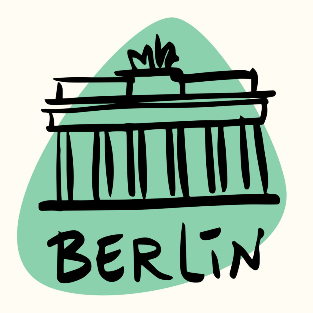 Berlin, capital, city, Germany, Brandenburg Gate, illustration