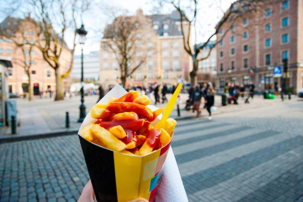 Brüssel, Belgien, belgische Pommes, belgische Spezialität