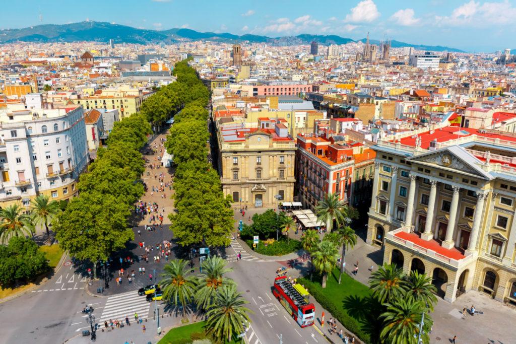 Barcelona, Catalonia, Spain, Las Ramblas, royalty free, sightseeing