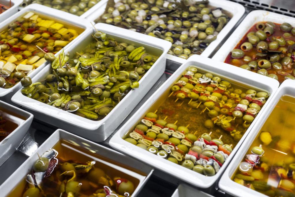 tapas, mixed olives, Spain, Royaty Free