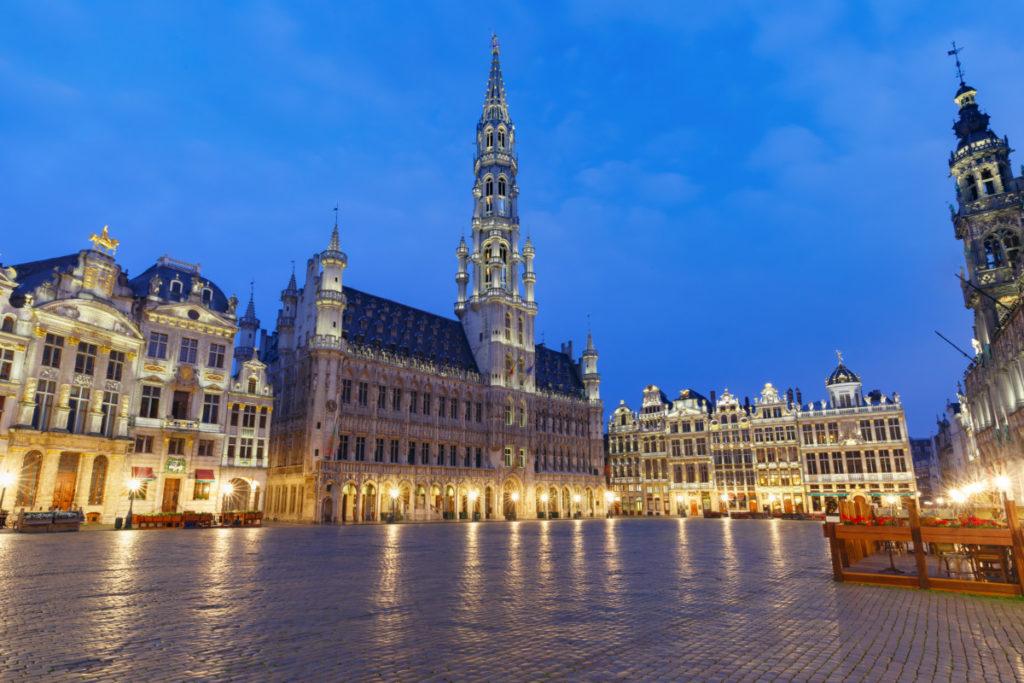 Brüssel, Belgien, Grand Place, Abend, Romantisch, Lichter