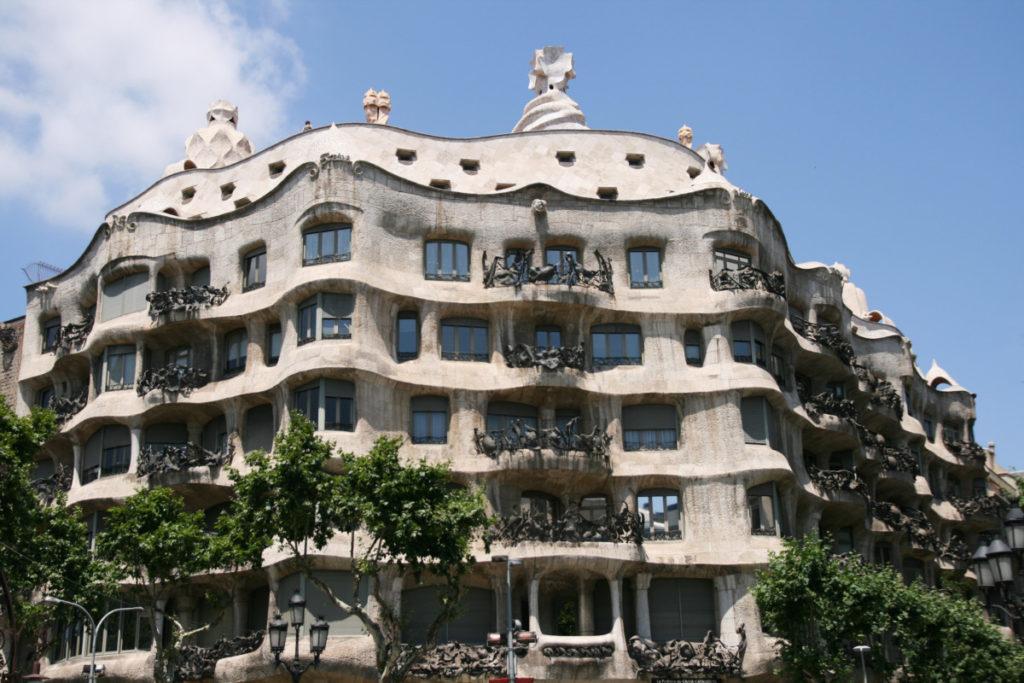 Barcelona, Catalonia, Spain, casa mia, Gaudi, royalty free