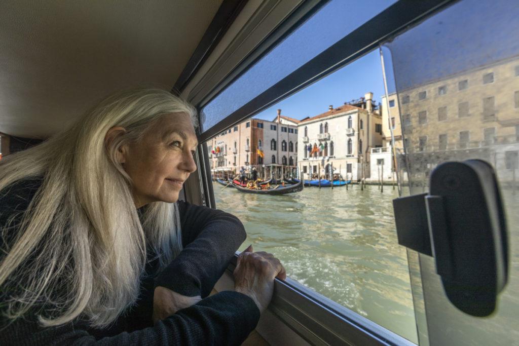 Tetra Images, Reisen, Venedig, Ausflugsboot, blicken, Grand Canal, Canale Grande, Italien, royalty free foto
