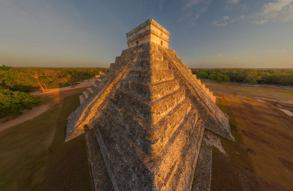 history, culture, education, Pyramid, Chichen Iza, Mexico, Maya, holiday, vacation, aerial image, drone photography, royalty free