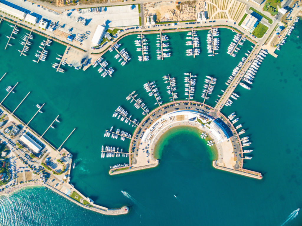 Marina, Croatia, drone photography, boots, yachts, sea, harbour, harbor, royalty free, aerial photography