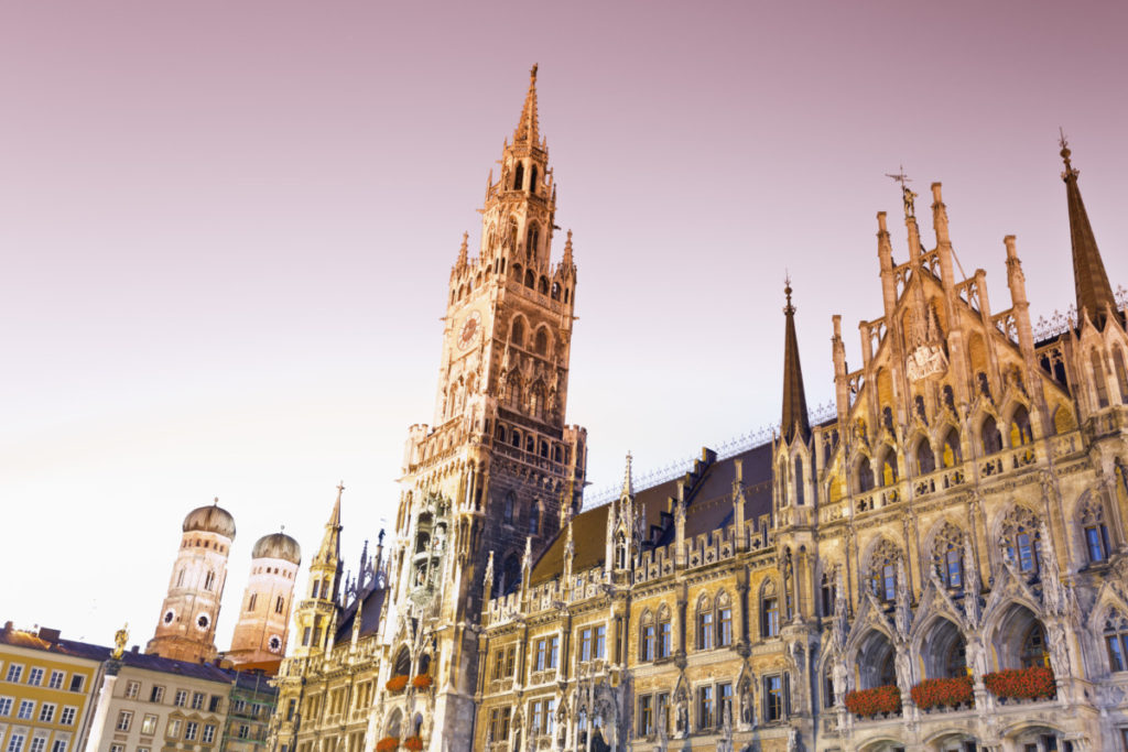 staff pick, New City Hall, Marienplatz, Munich, Germany, Venue, European Championship, City of Football 2020, royalty free, photo, stockphoto, stockagency, panthermedia
