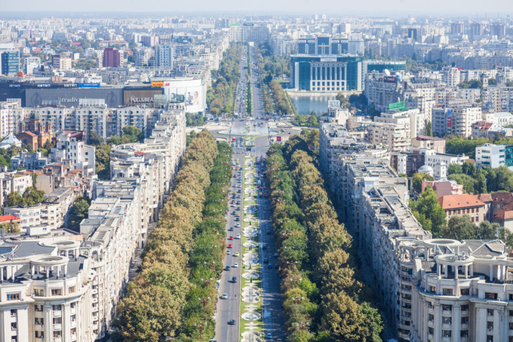 Avenue, Boulevard, Unirii Boulevard, Bucharest, Rumania, European Championship, City of Football 2020, royalty free, photo, stockphoto, stockagency, panthermedia