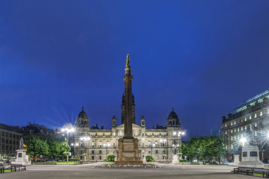 George Square, Glasgow, Scotland, European Championship, City of Football 2020, royalty free, photo, stockphoto, stockagency, panthermedia