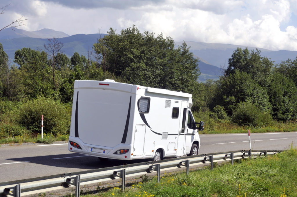 Camper, motorhome, RV, road, france, travelling, photo, royalty-free photo, royalty-free, panthermedia