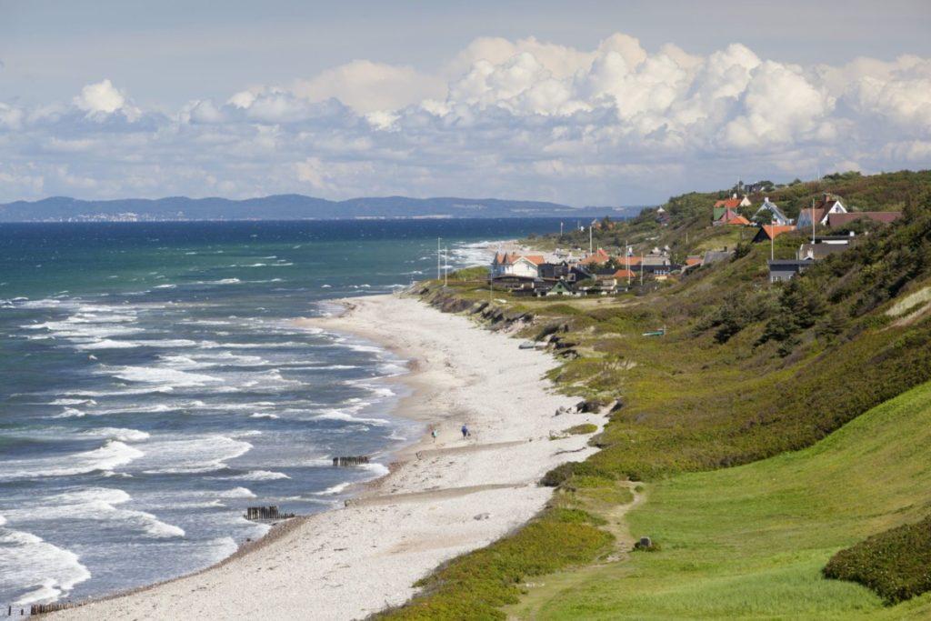 strand dänemark schweden meer wellen sonne lizenzfrei fotos bilder