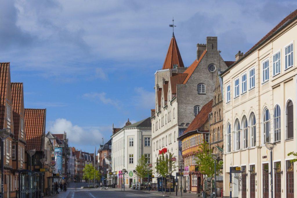 Aalborg, Dänemark, Fußgängerzone, gemütlich