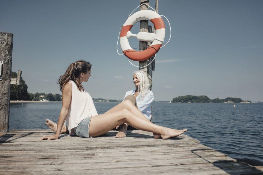 Mutter Tochter Urlaub Dänemark entspannt schön gemütlich