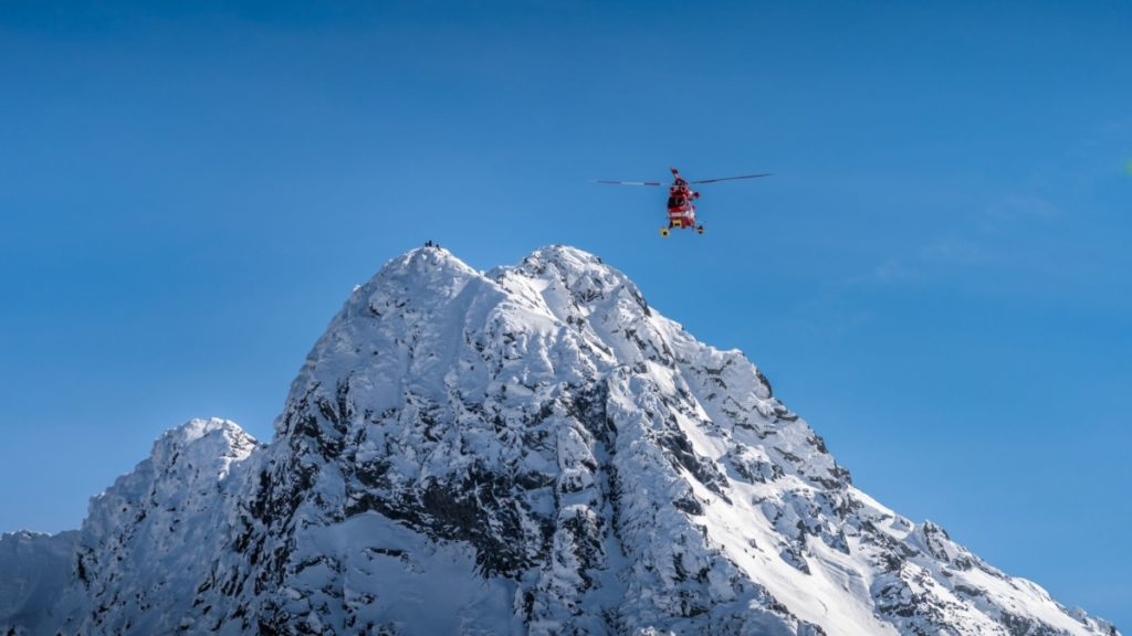 rescue helicopter,mountain, snow, emergency, lost, royalty free photo