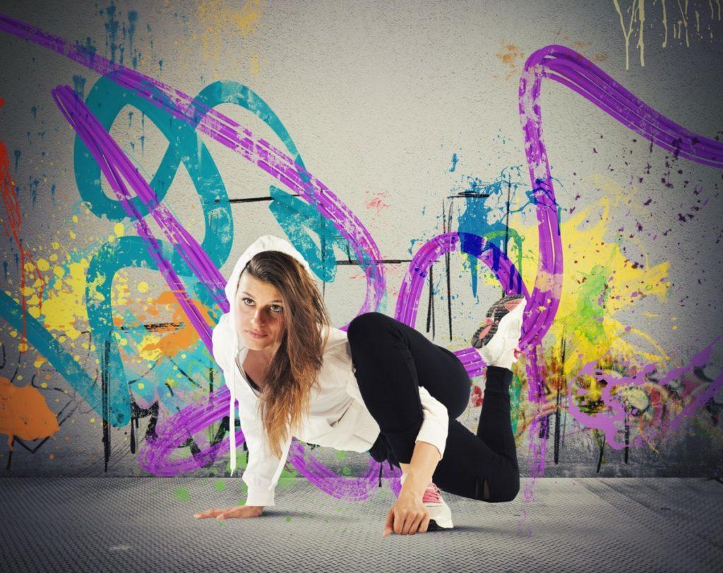 Pop-Kultur, breakdance, Frau, graffiti, konzentration, bunt, lizenzfreie Bilder, PantherMedia