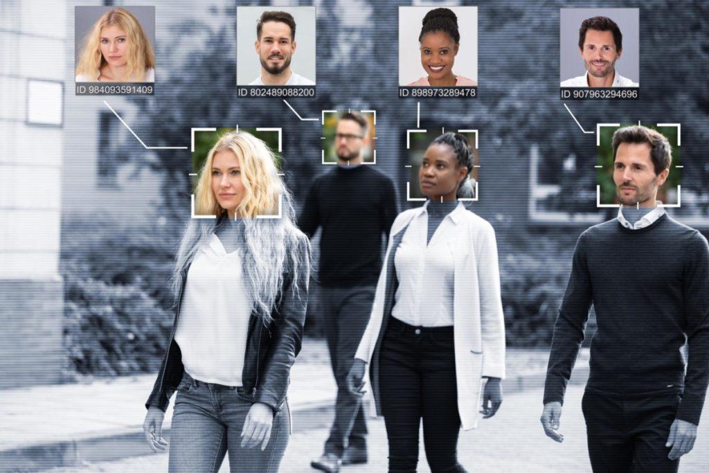 Technologie Zukunft gesichtserkennung menschen lizenzfreie bilder panthermedia