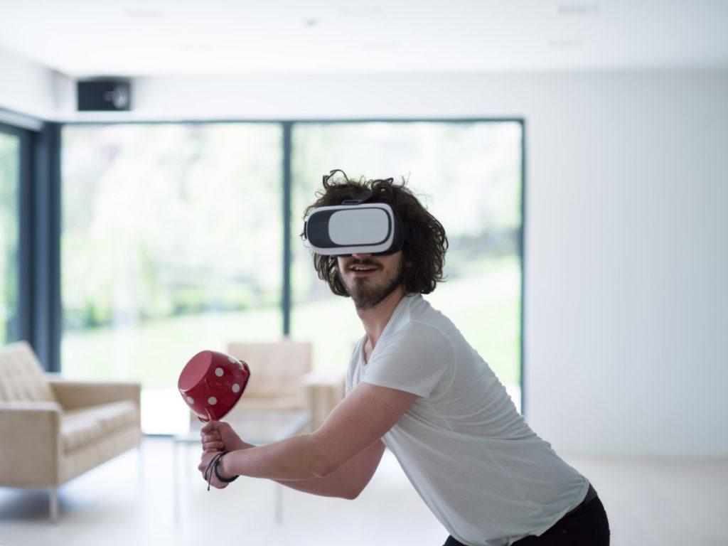 Technologie Zukunft VR Brille spaß innovation lizenzfreie bilder panthermedia