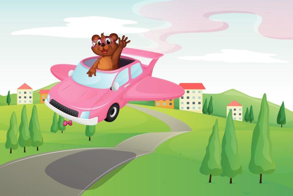 Technologie Zukunft flugauto fliegen auto lizenzfreie Bilder panthermedia