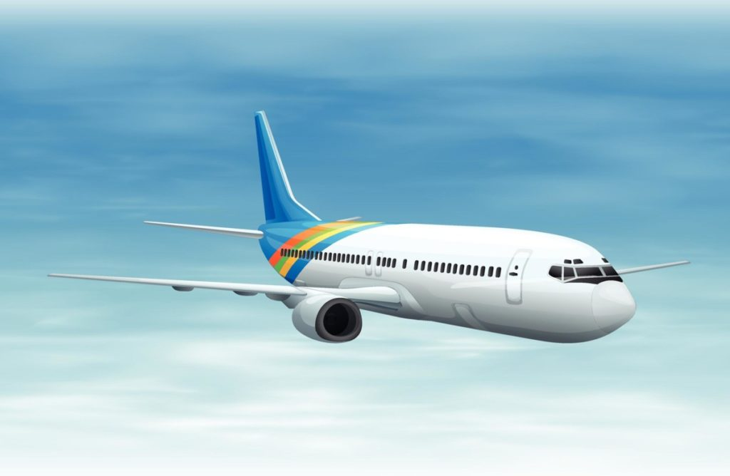 Flugezeug ferien fliegen lizenzfreie vektoren