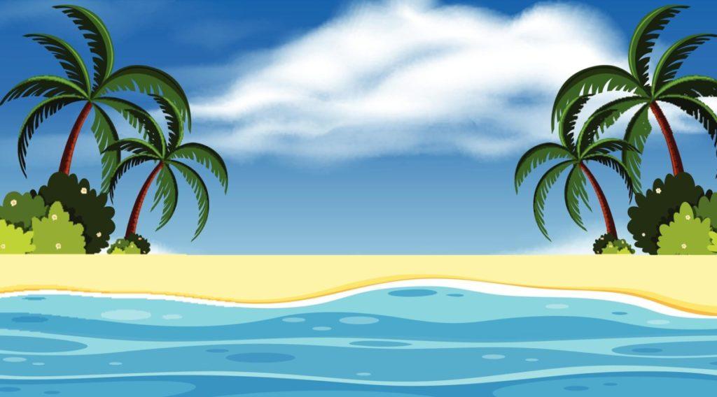 Strand karibik ferien blauer himmel lizenzfreie vektoren