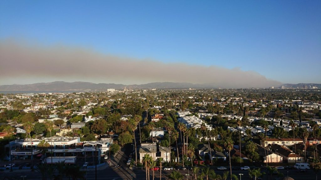 Los Angeles USA travel forrest fire getty center